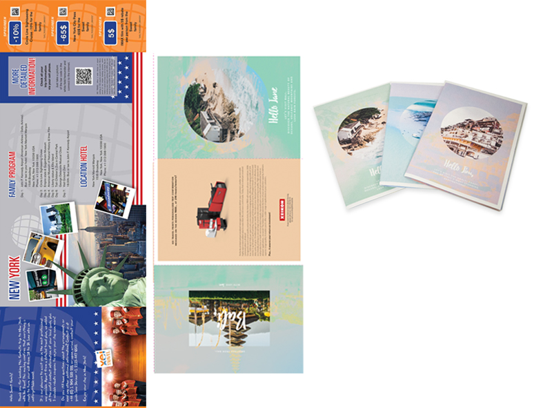 Samples of digital printed personalized direct mail