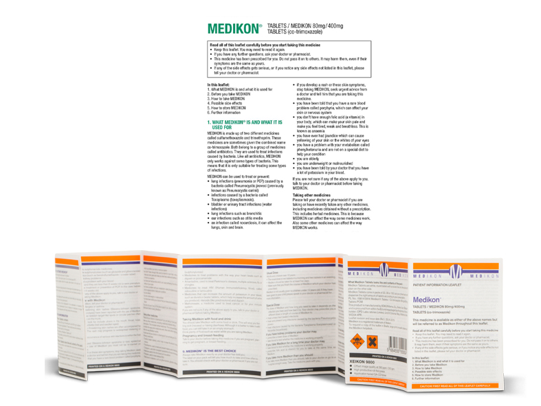 Sample of a digital printed pharmaceutical leaflet