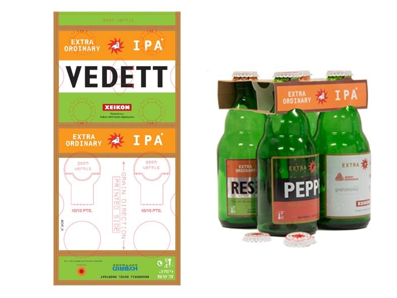 Sample of a digital printed beer packaging