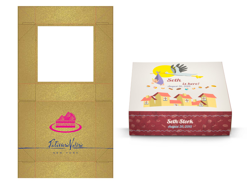 Sample of a digital printed bakery packaging