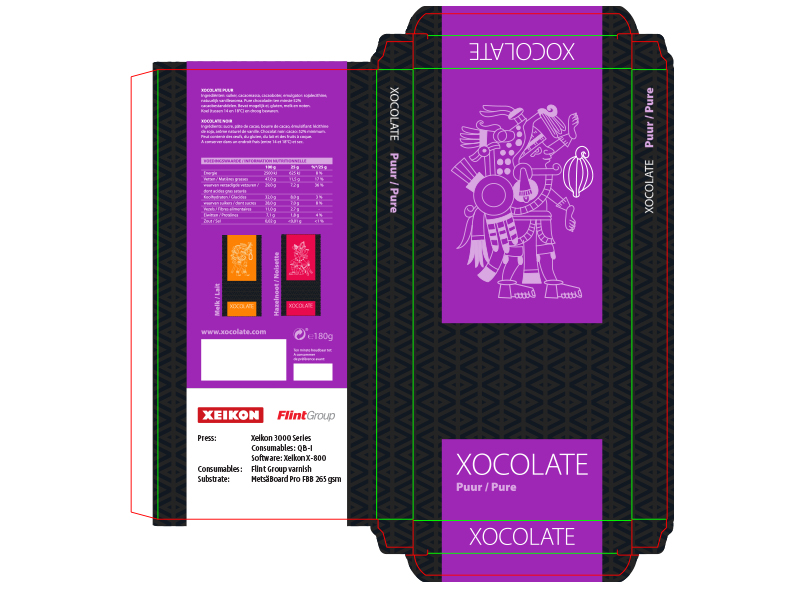 Folding Carton - Confectionary - Xocolate